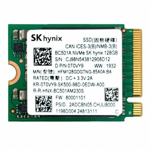 SK Hynix BC501A HFM128GDGTNG-85A0A 128GB M.2 2230 PCIe 3.0 x2 NVMe - second hand