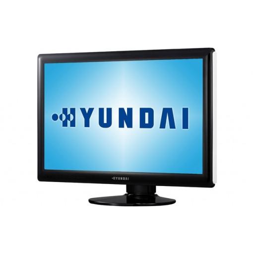 Hyundai W243D, 24 inch LCD, 1920 x 1080 Full HD, 16:10, HDMI, alb - negru, monitor refurbished