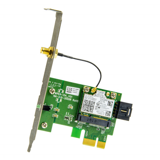 Placa retea wireless Intel Dual Band Wireless-AC 7260 cu riser card PCI-E x1 full height - second hand