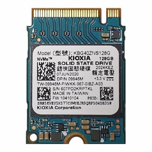 Kioxia BG4 Series KBG40ZNS128G 128GB M.2 2230 PCIe 3.0 x4 NVMe - second hand SSD