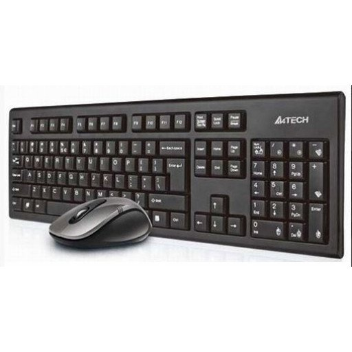 Kit tastatura si mouse wireless A4Tech 7100N