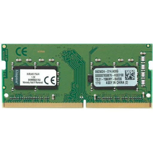 Memorie notebook DDR4 4 GB 2400 MHz Kingston KVR24S17S6/4 - nou