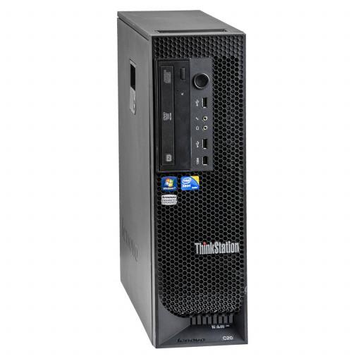 Lenovo ThinkStation C20 2 x Intel Xeon E5607 2.26GHz, 12GB DDR3, 500GB HDD, DVD-ROM, 1GB GeForce 605, Tower, workstation refurbished