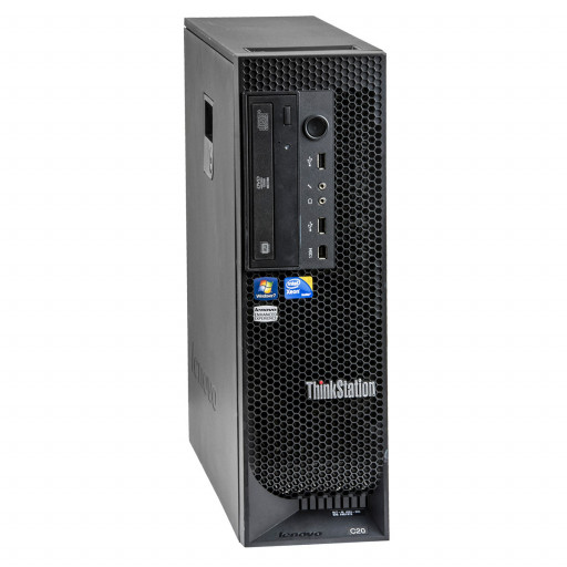 Lenovo ThinkStation C20 2 x Intel Xeon E5607 2.26GHz, 12GB DDR3 REG, 500GB HDD, 1GB Quadro 600, Tower, Windows 10 Pro MAR, workstation refurbished