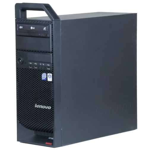 Lenovo ThinkStation S10 Intel C2Q Q6600 2.40 GHz, 4 GB DDR 3 ECC, 250 GB HDD, DVD-RW, 1 GB Radeon HD7450, Tower