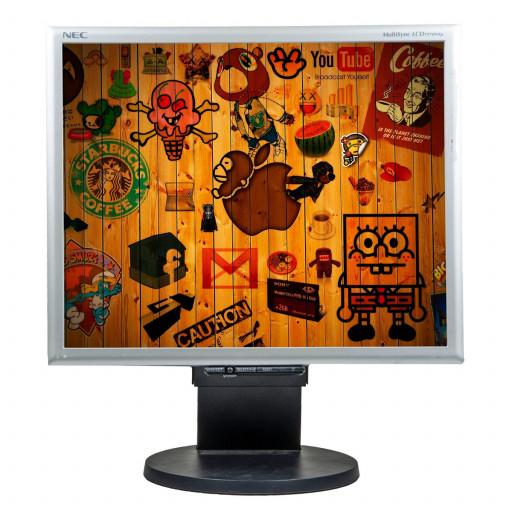 NEC 1970NX, 19 inch LCD, 1280 x 1024, negru - argintiu