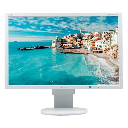 NEC EA243WM, 24 inch LED, 1920 x 1200 Full HD, 16:10, HDMI, displayport, alb, monitor refurbished