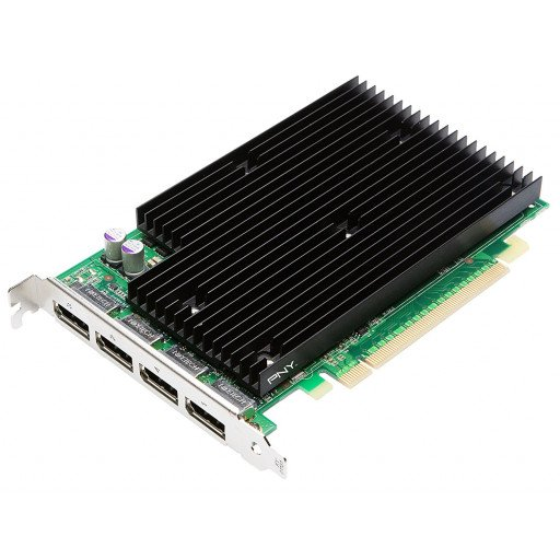 Placa video nVidia NVS 450 512 MB GDDR3 - reconditionata front ports