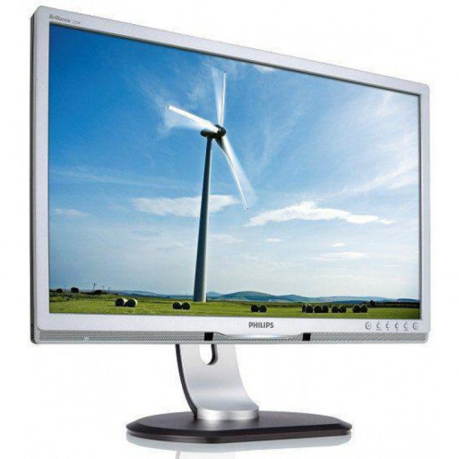 Philips 225P1, 22 inch LCD, 1680 x 1050, 16:10, negru - argintiu, monitor refurbished