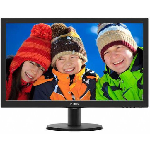 Philips 243V5LHSB5/00, 23.6 inch LED, 1920 x 1080 Full HD, 16:9, HDMI, negru