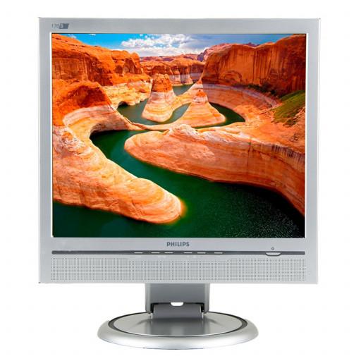 Philips 170P6, 17 inch LCD, 1280 x 1024, negru - argintiu, monitor refurbished