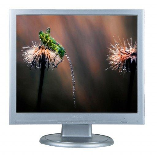 Philips 190S6, 19 inch LCD, 1280 x 1024, negru - argintiu