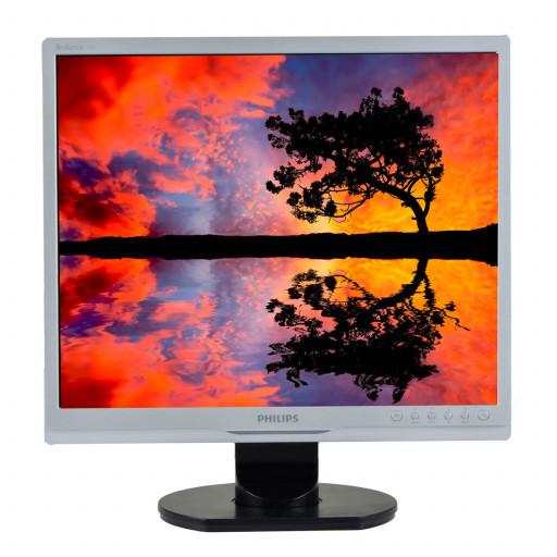 Philips 190S9, 19 inch LCD, 1280 x 1024, negru - argintiu