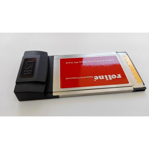 Adaptor Roline 15.06.2164R PCMCIA Cardbus - 2x porturi USB 2.0