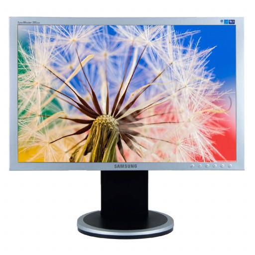 Samsung SyncMaster 205BW, 20 inch LCD, 1680 x 1050, 16:10, negru - argintiu