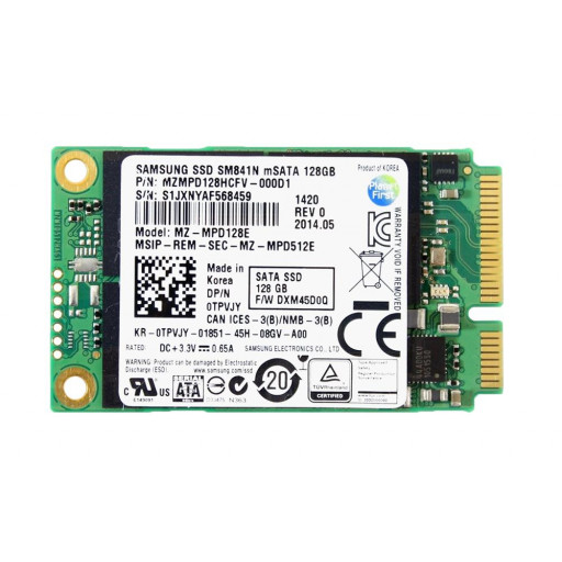 SSD Samsung SM841N 128 GB mSATA - second hand