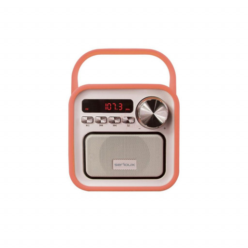 Boxa Bluetooth Serioux Joy SRXS-JOYBLTPCH, 5W - Orange