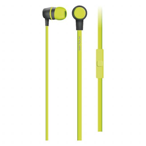 Casti stereo cu microfon Serioux, verde lime