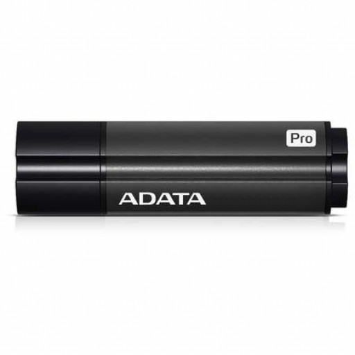 Stick USB 3.0 de 64GB A-DATA S102 Pro Advanced, model: AS102P-64G-RGY, culoare Titanium Gray.