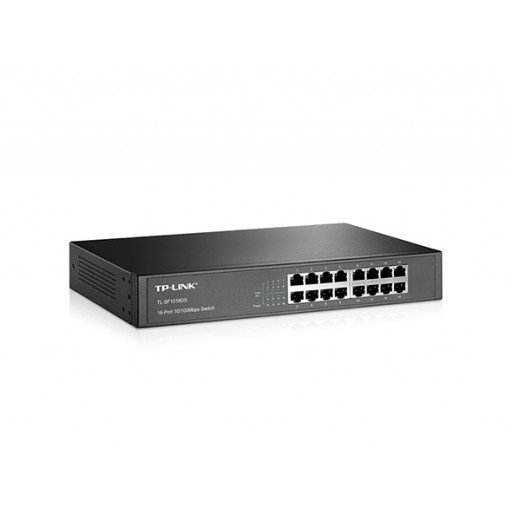 Switch 16 porturi TP-LINK TL-SF1016DS, montabil in Rack - 10/100 Mbps