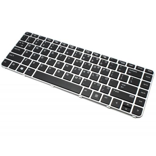 Tastatura laptop HP Elitebook 840 G3 / G4, 745 G3 / G4, ramă argintie - nouă