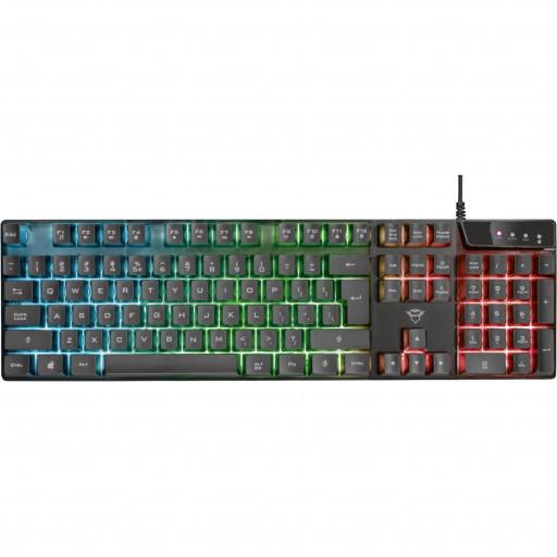 Tastatură gaming Trust GXT 835 AZOR, LED backlight - black