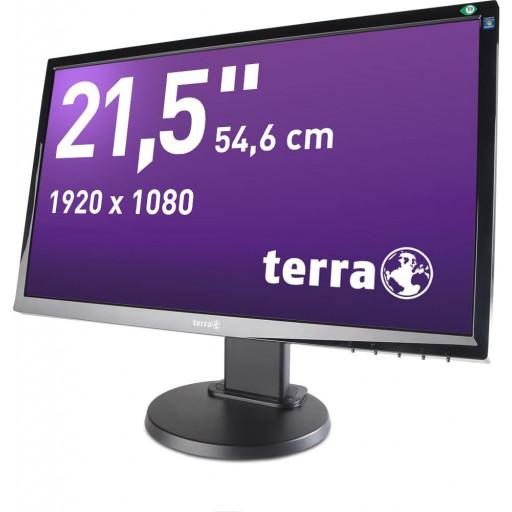Terra 2255W, 21.5 inch LED, 1920 x 1080, 16:9, negru, monitor refurbished