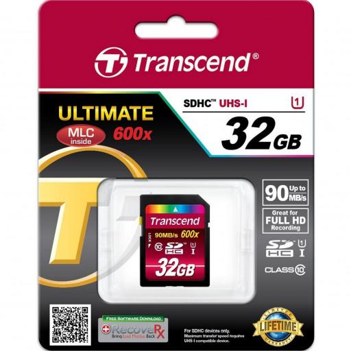 Card SDHC Transcend ULTIMATE 600x TS32GSDHC10U1 - 32GB, Class 10