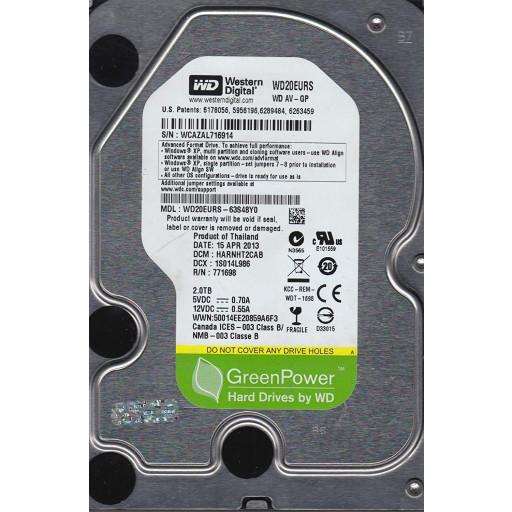 """HDD 2 TB Western Digital SATA 3.5"""" - second hand"""
