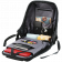 """Anti-theft backpack for 15.6""""-17"""" laptop, material 900D glued polyester and 600D polyester, black, USB cable length0.6M, 400x210x480mm, 1kg,capacity 20L"""
