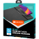 CANYON Mouse Mat with wireless charger, Input 5V/2A,9V2A Output 5W/7.5W/10W, 324*244*6mm, Micro USB cable length 1m, Black, 220g