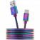 CANYON Type C USB 2.0 standard cable, Power output 5V/9V 2A, OD 3.8mm, metal shell, cable length 1.2m, Rainbow, 14*6*1000mm, 0.04kg