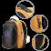 LEDme backpack, animated backpack with LED display, Nylon+TPU material, Dimensions 42*31.5*20cm, LED display 64*64 pixels, orange