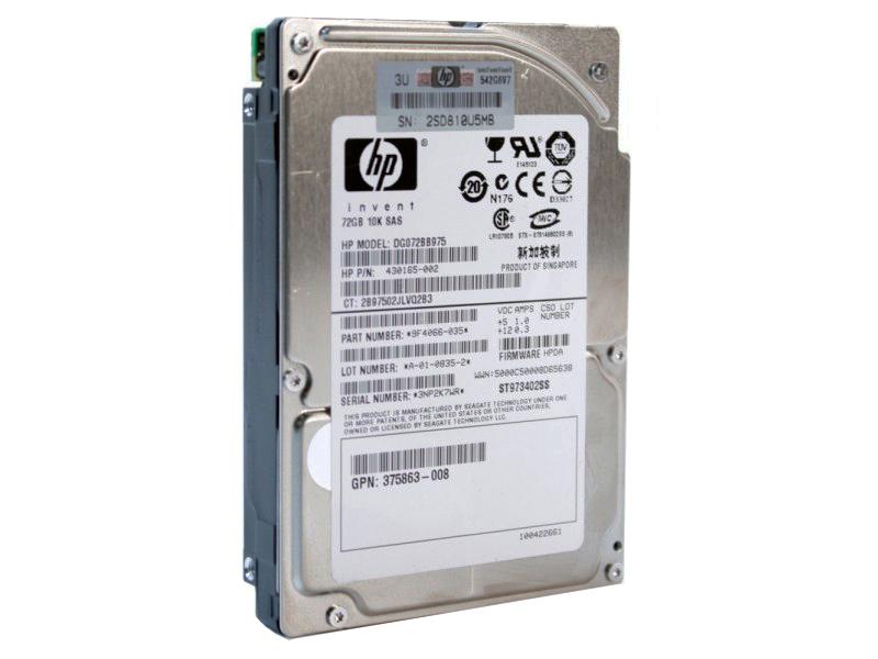 Hdd Server Hp 72 Gb 2.5 Refurbished