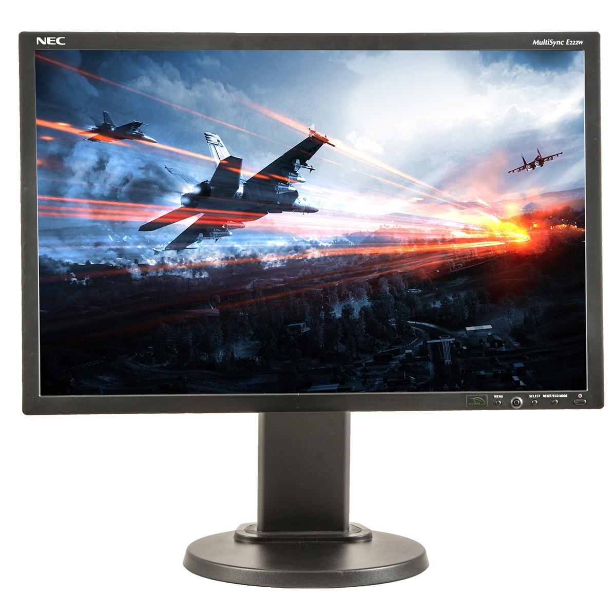 NEC MultiSync E222W  22 inch LCD  1680 x 1050  16:10  negru  monitor refurbished