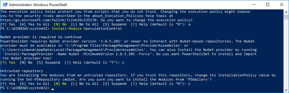 Powershell admin mode 3